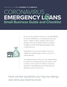 U.S. Chamber of Commerce Coronavirus Emergency Loans: Small Business Guide and Checklist