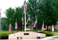 Flags in Page, Nebraska