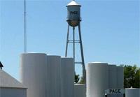 Water tower in Page, Nebraska